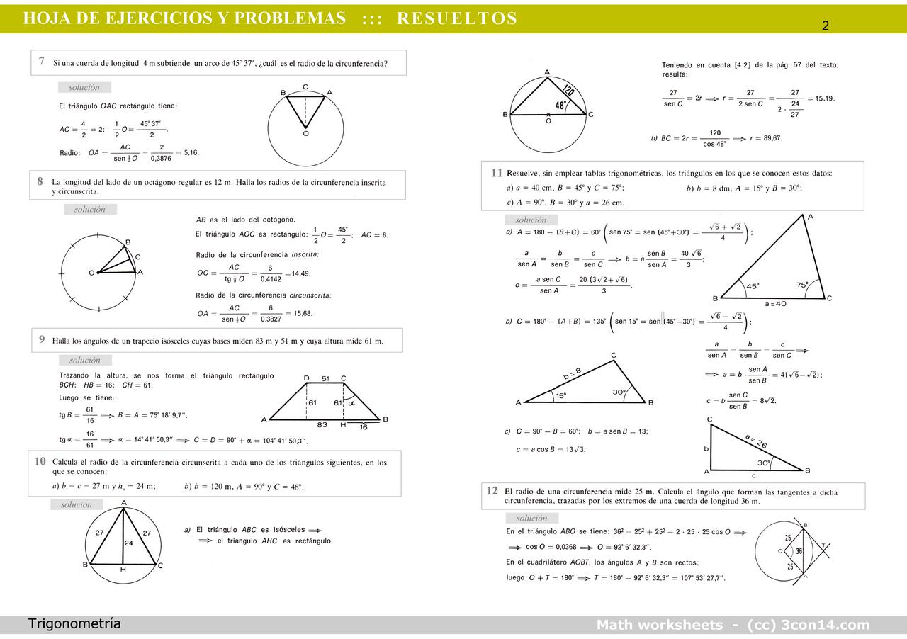 3con14 - Matemáticas - B · Hoja 001 - Ejer. y prob. resueltos de ...